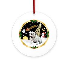 Night Flight/English Bulldog 1 Ornament (Round)