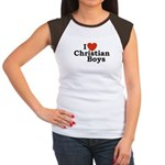 I loves Christian Boys Women's Cap Sleeve T-Shirt