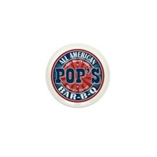 Pop's All American BBQ Mini Button
