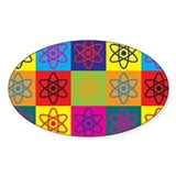 Nuclear Engineering Pop Art Oval Decal