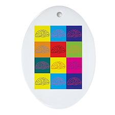 Neuroscience Pop Art Oval Ornament