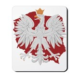 Poland White Eagle Design Mousepad