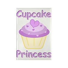 Cupcake Princess Rectangle Magnet