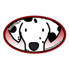 Anime Dalmatian Oval Decal