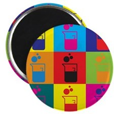"Microbiology Pop Art 2.25"" Magnet (100 pack)"
