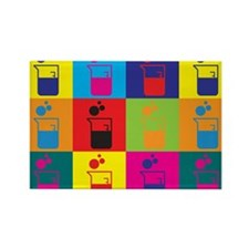 Microbiology Pop Art Rectangle Magnet (100 pack)