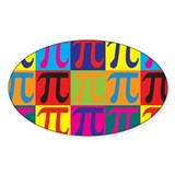 Math Pop Art Oval Decal