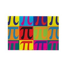Math Pop Art Rectangle Magnet (10 pack)