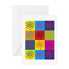 Materials Science Pop Art Greeting Card