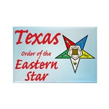 Texas Eastern Star Rectangle Magnet