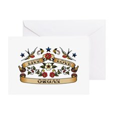 Live Love Organ Greeting Card