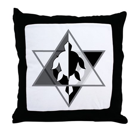 Star Turtle Throw Pillow