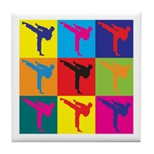 Martial Arts Pop Art Tile Coaster