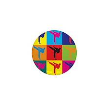 Martial Arts Pop Art Mini Button (10 pack)