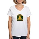 Fire Warden Women's V-Neck T-Shirt