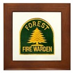 Fire Warden Framed Tile