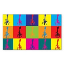 Mandolin Pop Art Rectangle Decal