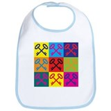 Locks and Keys Pop Art Bib