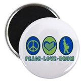 "PEACE - LOVE - DRUM 2.25"" Magnet (10 pack)"