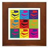 Library Work Pop Art Framed Tile
