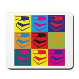 Library Work Pop Art Mousepad