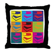 Library Work Pop Art Throw Pillow
