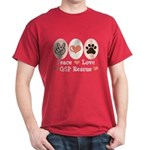 Peace Love GSP Rescue Dark T-Shirt