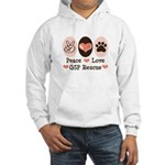 Peace Love GSP Rescue Hooded Sweatshirt