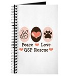 Peace Love GSP Rescue Journal