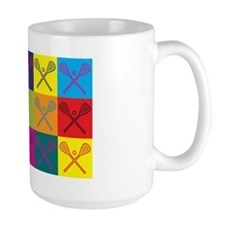 Lacrosse Pop Art Mug