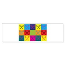 Lacrosse Pop Art Bumper Sticker (10 pk)