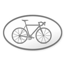 road bike bicycling cycling sticker (oval)