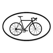 road bike bicycling cycling sticker (oval)