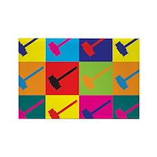 Judging Pop Art Rectangle Magnet
