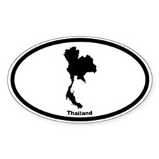 Thailand Outline Oval Decal