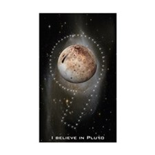 I believe in Pluto Rectangle Sticker 10 pk)