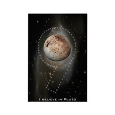 I believe in Pluto Rectangle Magnet (100 pack)