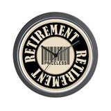 Retirement Priceless Bar Code Wall Clock