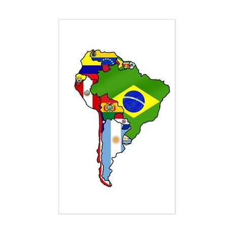 South America Sticker (Rectangle)