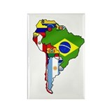 South America Rectangle Magnet