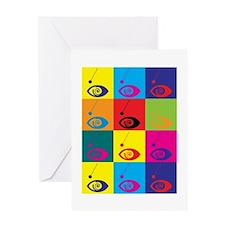 Hypnotism Pop Art Greeting Card