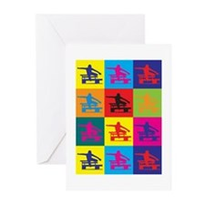 Hurdling Pop Art Greeting Cards (Pk of 20)