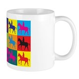 Horse Riding Pop Art Mug