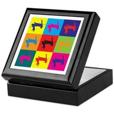 High Jumping Pop Art Keepsake Box