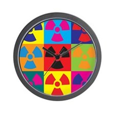 Hazmat Pop Art Wall Clock