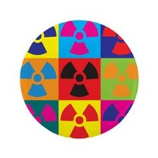 "Hazmat Pop Art 3.5"" Button (100 pack)"