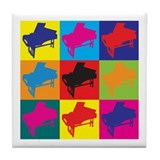 Harpsichord Pop Art Tile Coaster