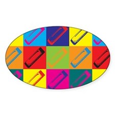Harmonica Pop Art Oval Decal
