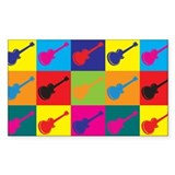 Guitar Pop Art Rectangle Decal