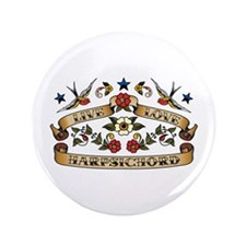 "Live Love Harpsichord 3.5"" Button (100 pack)"